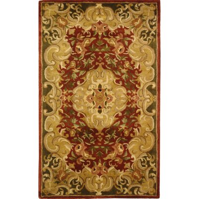 Carnasheeran Hand-Tufted Rust Area Rug Rug Size: Rectangle 4 x 6