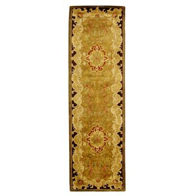 Carnasheeran Gold/Cola Rug Rug Size: Runner 23 x 8