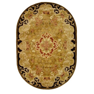 Carnasheeran Gold/Cola Rug Rug Size: Rectangle 4 x 6
