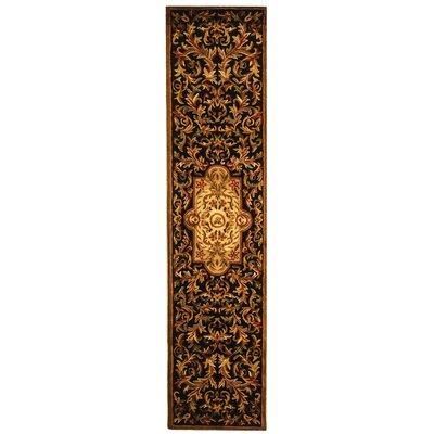 Carnasheeran Royal Black/Beige Rug Rug Size: Runner 23 x 12