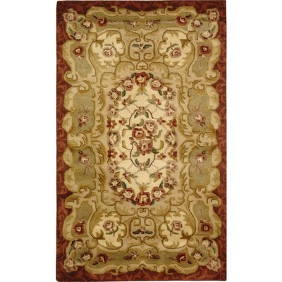Carnasheeran Ivory/Red Rug Rug Size: Rectangle 83 x 11