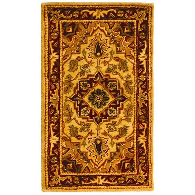 Carnasheeran Light Gold / Red Area Rug Rug Size: Rectangle 23 x 4