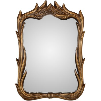 Irregular Brown Wall Mirror