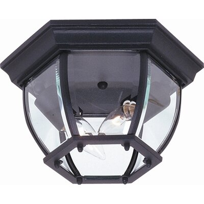 Glyndon 2-Light Flush Mount Finish: Black