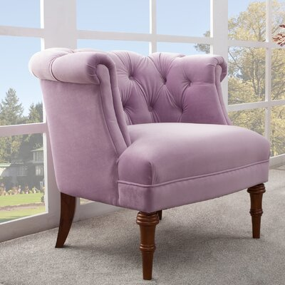 Morphew Barrel Chair Upholstery: Lavender