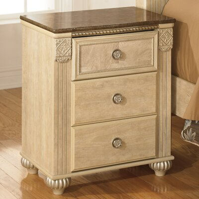 Villa San Michele 3 Drawer Nightstand