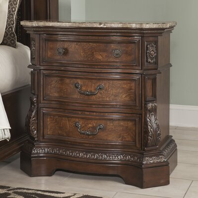 Carnearney 3 Drawer Nightstand