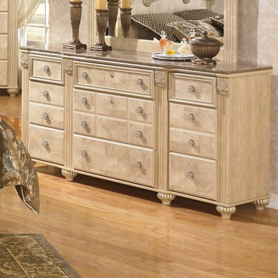 Villa San Michele 9 Drawer Dresser with Mirror