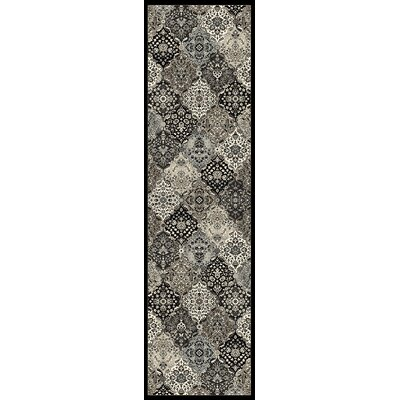 Baypoint Metallic Borderless Kashan Area Rug Rug Size: Runner 22 x 71