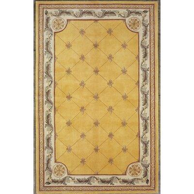 Totternhoe Gold Fleur-De-Lis Rug Rug Size: 96 x 136