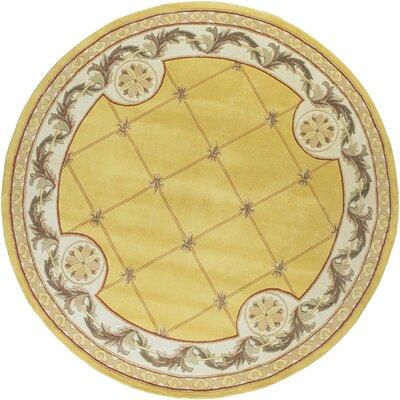 Totternhoe Gold Fleur-De-Lis Rug Rug Size: Rectangle 86 x 116