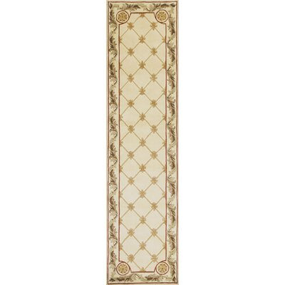 Totternhoe Antique Ivory Fleur-De-Lis Rug Rug Size: Runner 26 x 10