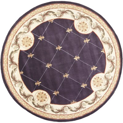 Totternhoe Fleur-De-Lis Grape Rug Rug Size: Rectangle 36 x 56
