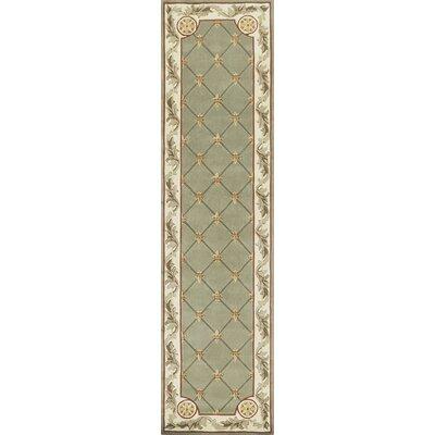 Totternhoe Sage Fleur-De-Lis Rug Rug Size: Runner 26 x 10