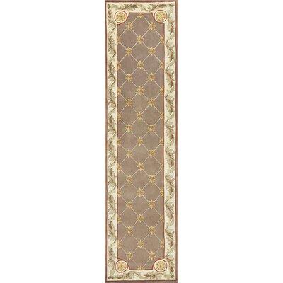Totternhoe Taupe Fleur-De-Lis Rug Rug Size: Runner 26 x 10