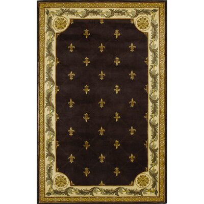 Totternhoe Mocha Fleur-De-Lis Rug Rug Size: Rectangle 86 x 116