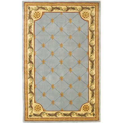Totternhoe Wedgewood Blue Fleur-De-Lis Outdoor Area Rug Rug Size: Rectangle 36 x 56