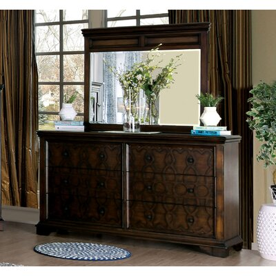 Hepscott 6 Drawer Dresser with Mirror