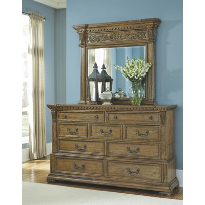 Athens 9 Drawer Dresser with Mirror