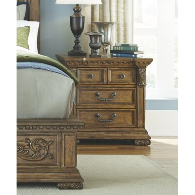 Athens 4 Drawer Nightstand