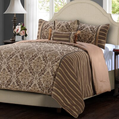 Vancouver 5 Piece Comforter Set Size: King