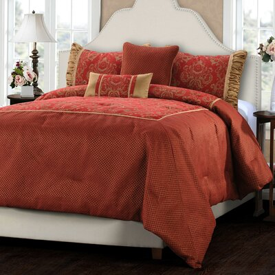 Vancouver 5 Piece Comforter Set Size: Queen