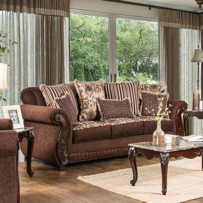 Dolson Traditional Sofa Upholstery: Brown