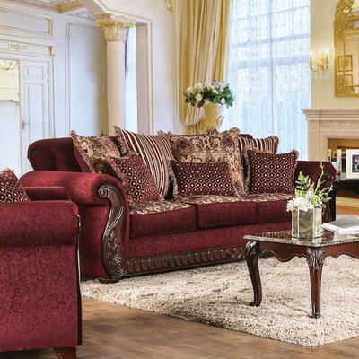 Dolson Traditional Sofa Upholstery: Red