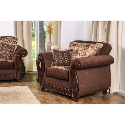 Dolson Traditional Armchair Upholstery: Brown