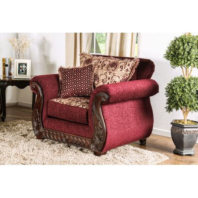 Dolson Traditional Armchair Upholstery: Red