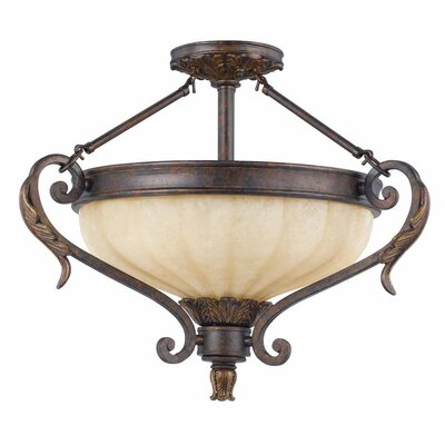 Donaway 3-Light Semi Flush Mount