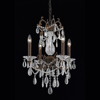 Donat 4-Light Crystal Chandelier
