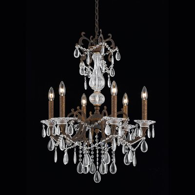 Donat 6-Light Crystal Chandelier