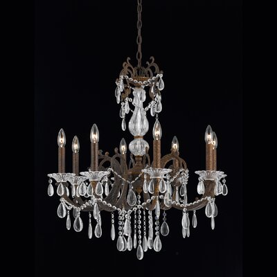 Donat 8-Light Crystal Chandelier