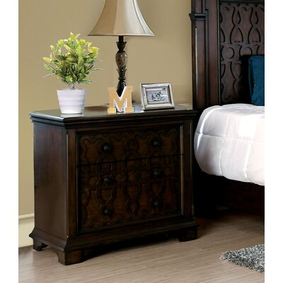 Hepscott 2 Drawer Nightstand