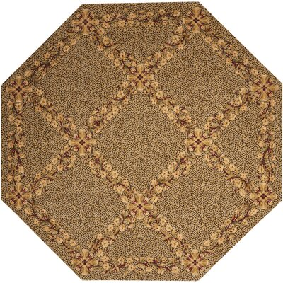 Forest River Sand Area Rug Rug Size: Octagon 8