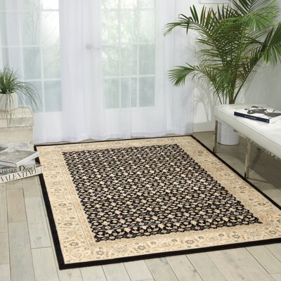 Carmorn Black Area Rug Rug Size: Rectangle 36 x 56