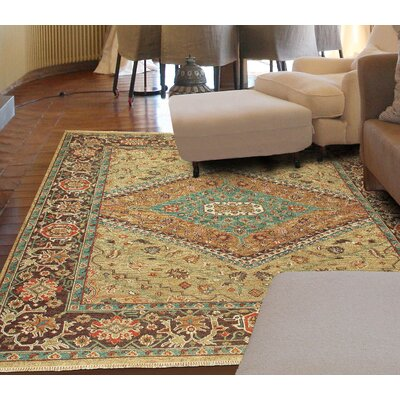 Fitzroy Hand-Knotted Gold/Brown Area Rug