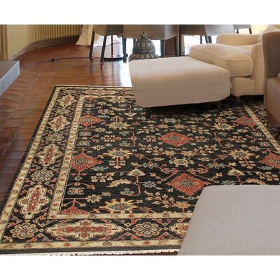 Fitzroy Hand-Knotted Black Area Rug