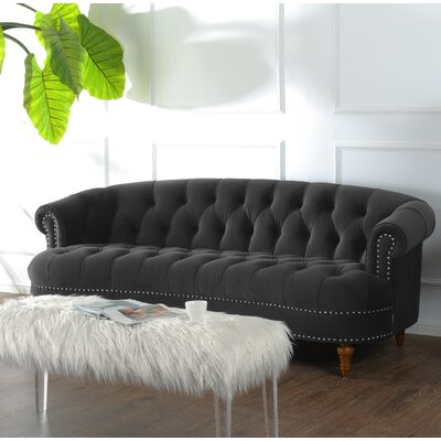 Ballinger Chesterfield Sofa Upholstery: Dark Charcoal Grey