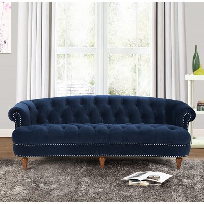 Ballinger Chesterfield Sofa Upholstery Color: Navy Blue