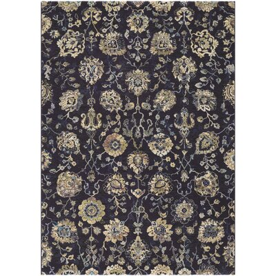Montage Navy/Cream Area Rug Rug Size: Runner 27 x 710