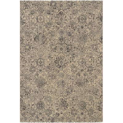 Meadville Beige/Black Area Rug Rug Size: Rectangle 66 x 96