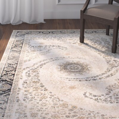 Chatwin Ivory Area Rug Rug Size: 5 x 8