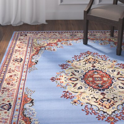 Britain Blue/Beige Area Rug Rug Size: Rectangle 9 x 12