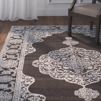 Bloomsburg Hand-Knotted Brown/Linen Area Rug Rug Size: Rectangle 8 x 10