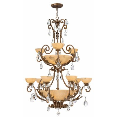 Kala 9-Light Shaded Chandelier
