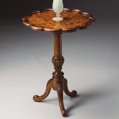 Copley Pedestal End Table in Olive Ash Burl