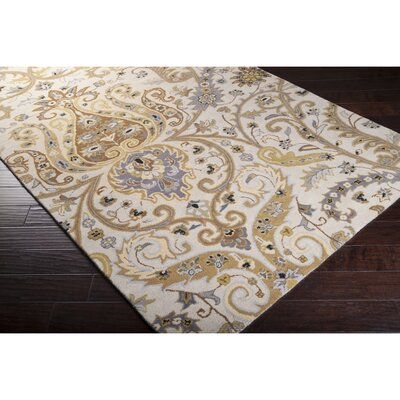 Gant Hand-Tufted Gray Area Rug Rug Size: Rectangle 33 x 53