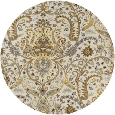 Gant Hand-Tufted Gray Area Rug Rug Size: Round 8